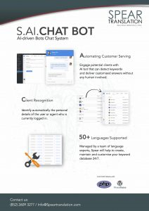 Brochure for S AI CHAT Bot - Language Solution